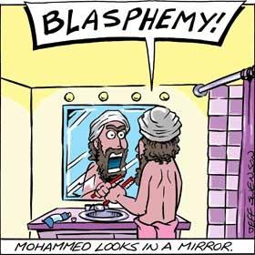 Mahomet réfléchi dans un miroir