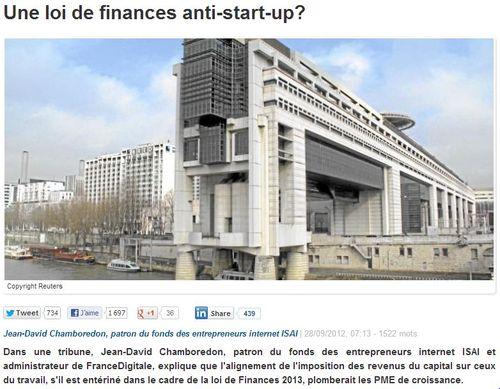 Loi de finance anti startup