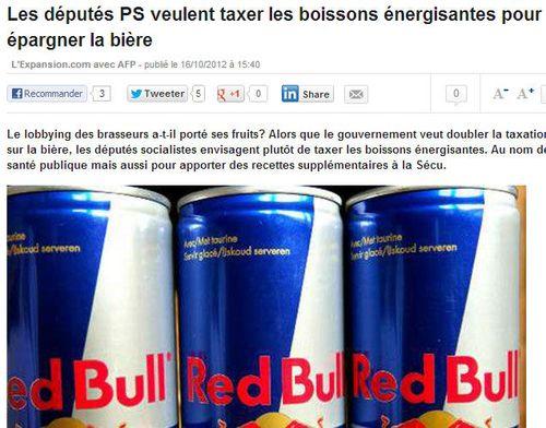 Taxer le Red Bull