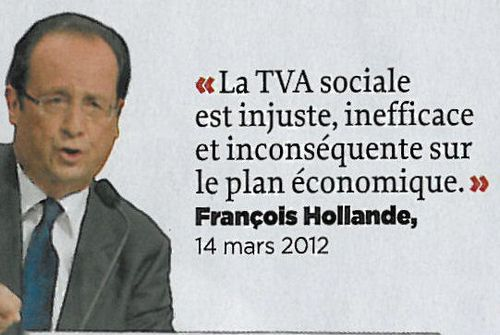 Hollande-La TVA sociale est injuste-14mars2012
