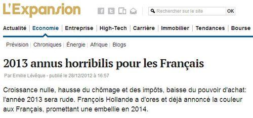 2013 annus horribilis