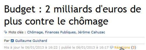 Plus 2 Md€ contre le chômage