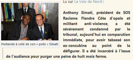 Anthony Simati et son pote François Hollande