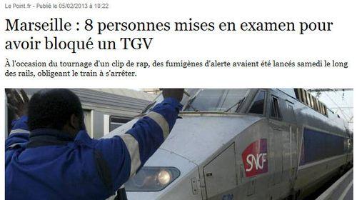 Marseille-attaque de TGV-février 2013