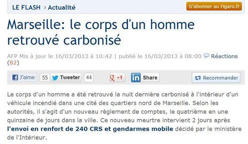 Marseille-règlement de compte-16.03.2013