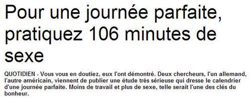 Sexe - 106 minutes par jour - 08.10.2013
