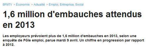 BFM Business -embauches attendus-10.04.2013