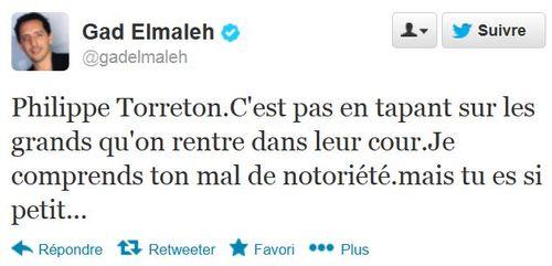 Gad Elmaleh - tweet à Torreton