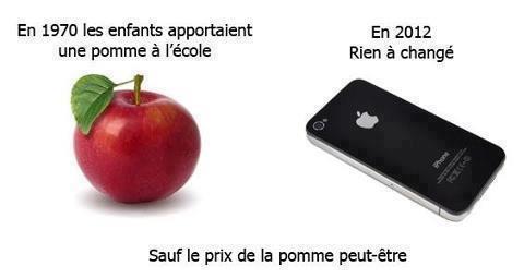 Pomme à l'école