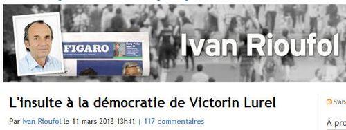 Ivan Rioufol - Victorin Lurel - 11.03.2013