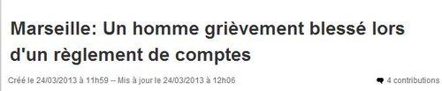 Marseille règlement de comptes numéro 9 année 2013