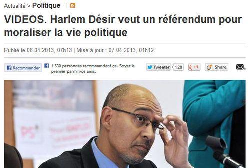 Harlem Désir veut un referendum-06-04-2013