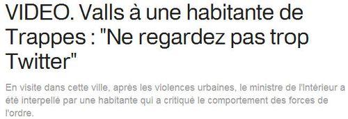 Valls à Trappes - Ne regardez pas trop Twitter