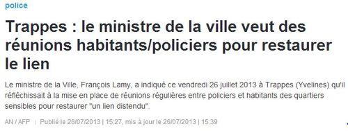 Trappes - Réunions habitants-policiers - 27.07.2013