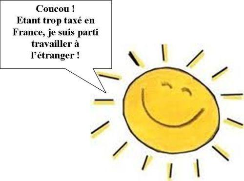 Soleil trop taxé en France