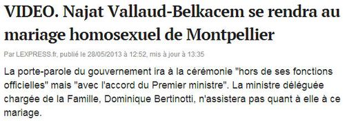 Mariage homosexuel de Montpellier - juin 2013