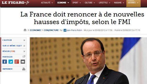 FMI il fat que la France renonce aux nouvelles taxes - 05.08.2013