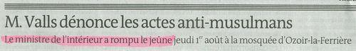Manuel Valls a rompu le jeûne