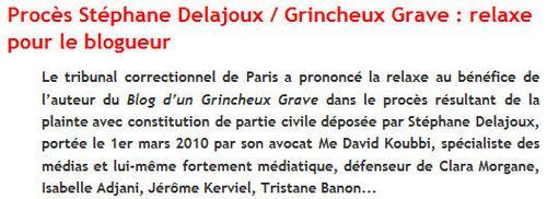 Verdict procès Delajoux-GG
