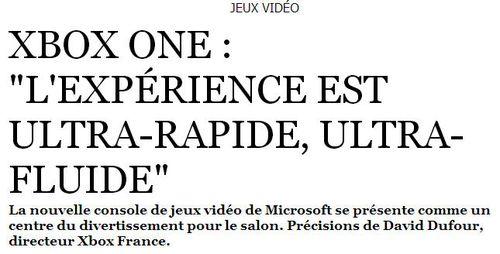Xbox One expérience
