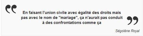 Ségolène Royal - Union civile - Mariage gay