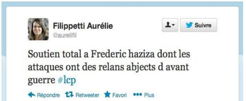 Tweet Aurélie Filippetti-04.08.2013