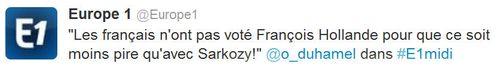 Tweet Olivier Duhamel-20.09.2013
