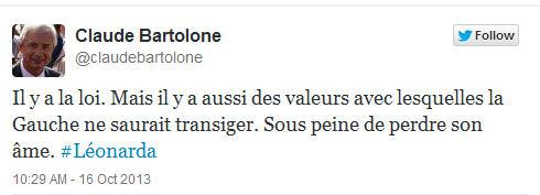 Tweet Claude Bartolone-16.10.2013