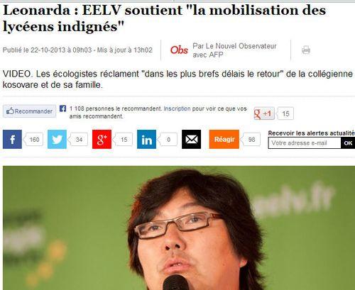 EELV soutient Leonarda
