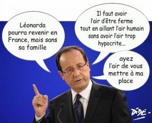Hollande prend des airs-Leonarda