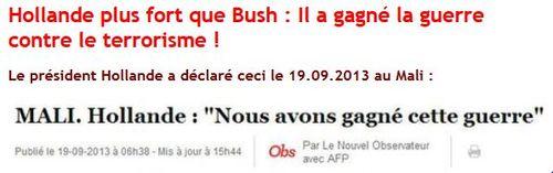 Hollande a gagné la guerre au Mali