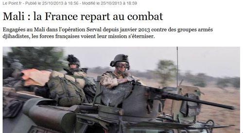 Mali-les combats continuent-25.10.2013