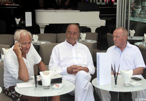 Gérard de Villiers- Jacques Chirac -François Pinault à St Tropez - Gala
