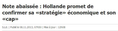 Standard and Poor-Hollande garde son cap