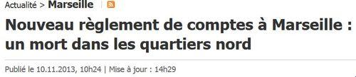 Marseille nouveau meurtre - 10.11.2013