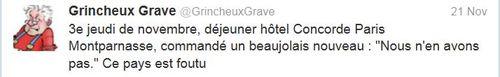 Hôtel Concorde Montparnasse-Beaujolais-21.11.2013
