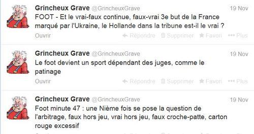Trois tweets FOOT-19.11.2013