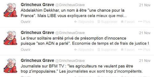 Trois tweets du 21.11.2013