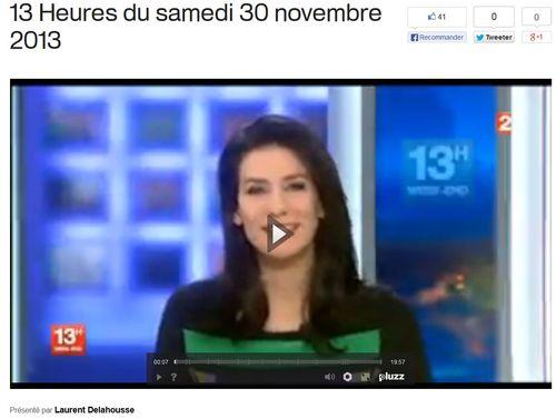 France 2 JT 13 heures samedi 30.11.2013