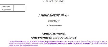 L'Humanité - amendement 410