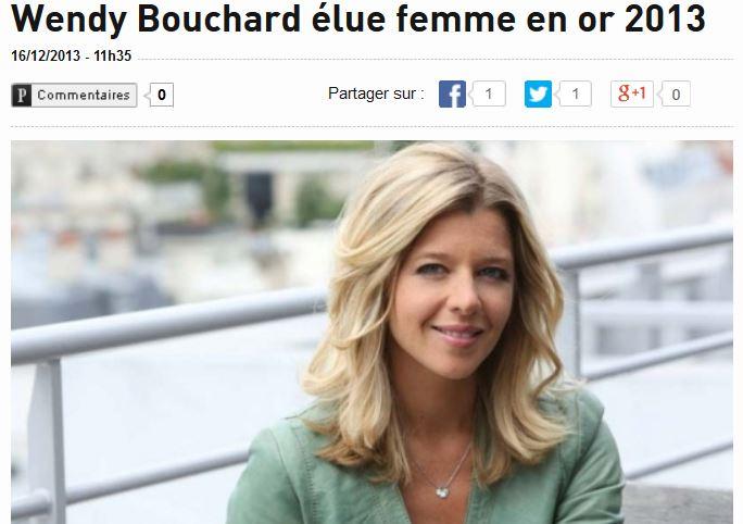 Wendy Bouchard femme en or 2013