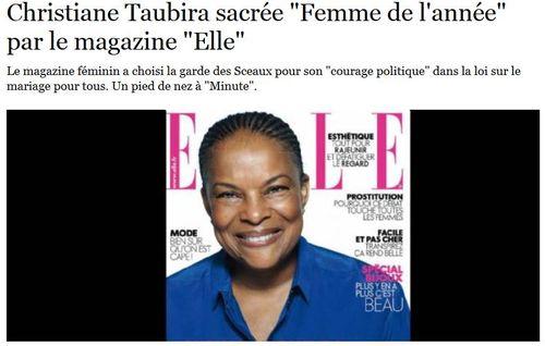 Taubira femme de l'année