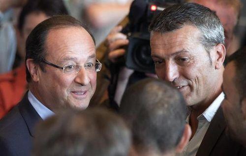 Hollande et Edouard Martin