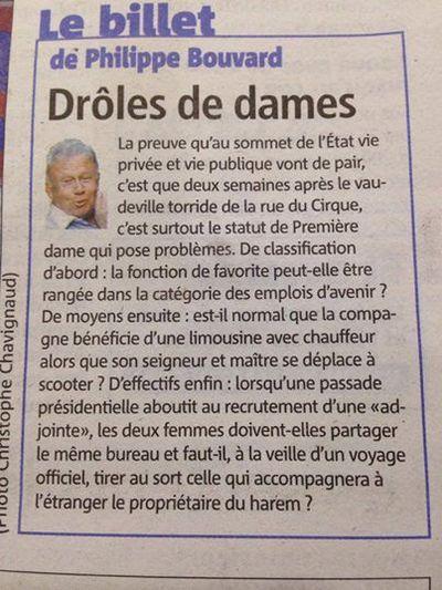 Le billet de Philippe Bouvard
