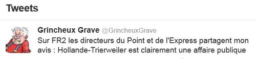 Tweet Trierweiler-Hollande affaire publique