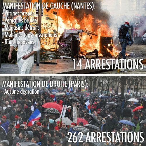 Photos manif Paris janvier et Nantes février 2014