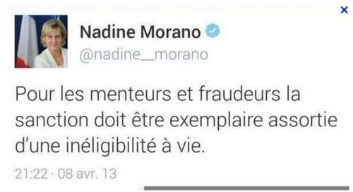 Tweet Nadine Morano 08.04.2013