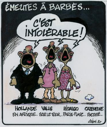 Emeutes à Barbès-C'est intolérable-19.07.2014