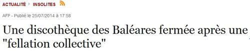 Fellation collective aux Baléares-juillet 2014-Le Point