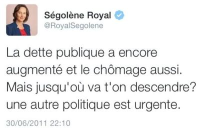 Tweet Ségolène Royal le 30.06.2011